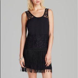 Free People Charleston Black Fringe Dress Sz 8